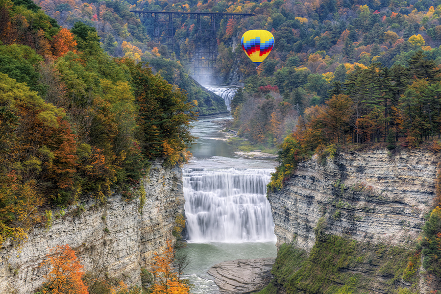 balloon middle falls - About